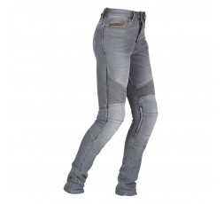 Cowboy / motorcycle jean woman LADY PURDEY by FURYGAN with D3O Denim protections grey 1
