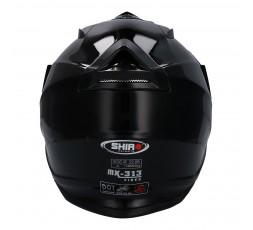 Casco integral para uso Off Road MX-313 de SHIRO negro detras