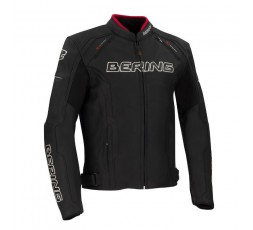 Leather and stretch material motorcycle jacket Borg by Bering 1