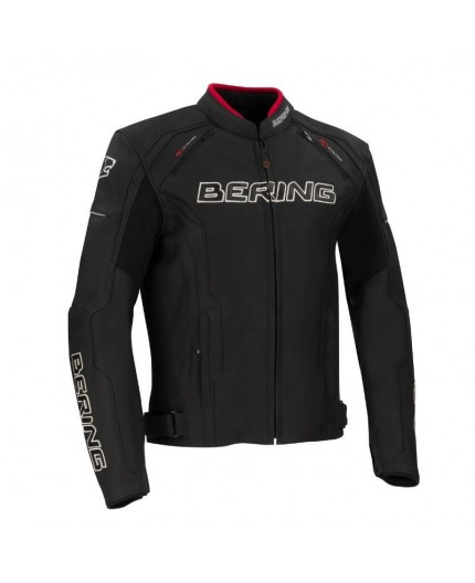 Leather and stretch material motorcycle jacket Borg by Bering