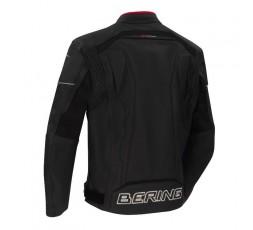 Chaqueta moto hombre cuero y stretch Borg de Bering espalda