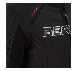 Leather and stretch material motorcycle jacket Borg by Bering 3