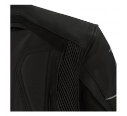 Leather and stretch material motorcycle jacket Borg by Bering 4