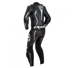 Mono moto de cuero mujer Vortex Lady de Bering blanco y negro vista de espalda