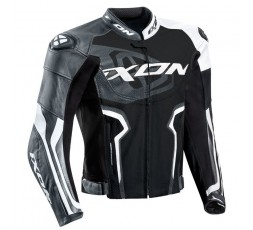 Chaqueta moto de cuero hombre Falcon JKT de IXON color gris vista de frente