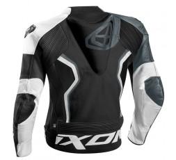 Chaqueta moto de cuero hombre Falcon JKT de IXON color gris vista de espalda