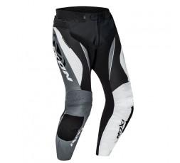 Pantalón de moto cuero hombre FALCON PT de Ixon gris vista de frente