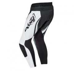 Pantalón de moto cuero hombre FALCON PT de Ixon gris vista de espalda