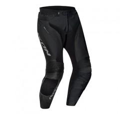 Pantalón de moto cuero hombre FALCON PT de Ixon negro vista de frente