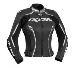 Blouson moto en cuir femme modèle VORTEX LADY JKT de Ixon noir 1