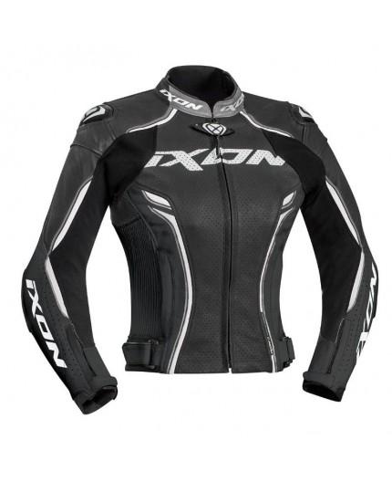 Blouson moto en cuir femme modèle VORTEX LADY JKT de Ixon