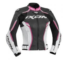 VORTEX LADY JKT women's leather motorcycle jacket by Ixon fushia 1