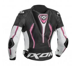 VORTEX LADY JKT women's leather motorcycle jacket by Ixon fushia 2