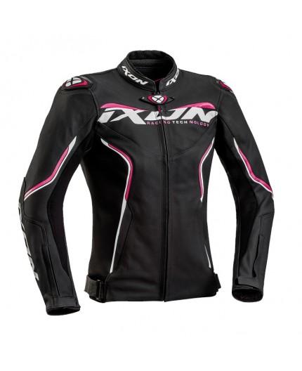 Blouson moto femme en textile et cuir combiné TRINITY de IXON