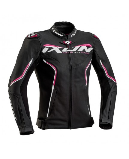 Women's motorcycle jacket in combined textile leather TRINITY by IXON