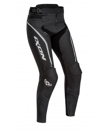 Pantalon De Moto Mujer En Cuero Trinity De Ixon Talla Xs Color Gris