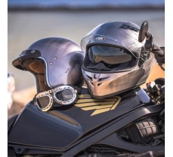 SH-600 CHROME SCRATCHED full face helmet by SHIRO 6