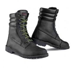 Botas de moto en cuero unisex YU'ROCK de Stylmartin color negro