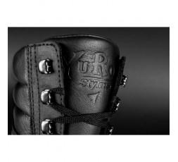 Botas de moto en cuero unisex YU'ROCK de Stylmartin color negro detalle arriba