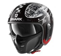 Casco moto Urbano S-DRAK de Shark vista de lado color KWR
