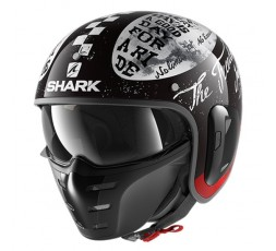 Jet motorcycle helmet with Shark S-DRAK mask 7 color KWR