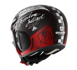 Casco moto Urbano S-DRAK de Shark vista atrás color KWR