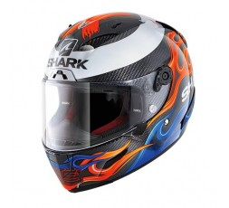 Casco integral RACE-R PRO CARBON Replica Lorenzo de Shark vista de frente