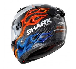 Casco integral RACE-R PRO CARBON Replica Lorenzo de Shark vista trasera 1