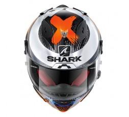 Casco integral RACE-R PRO CARBON Replica Lorenzo de Shark vista de frente