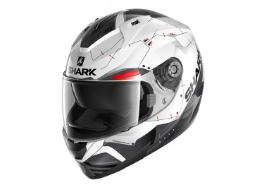 Casco integral RIDILL MECCA de SHARK Blanco vista de lado