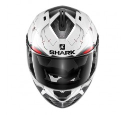 Casco integral RIDILL MECCA de SHARK Blanco vista de frente