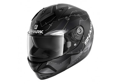Casco integral RIDILL MECCA de SHARK Negro vista de lado