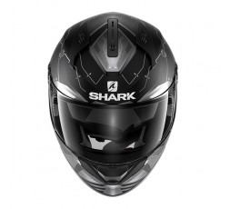 Casco integral RIDILL MECCA de SHARK Negro vista de frente