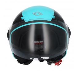 SHIRO SH-62 Oxford Open-face Helmet blue 2