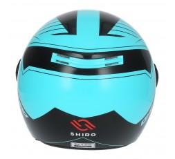 SHIRO SH-62 Oxford Open-face Helmet blue 3