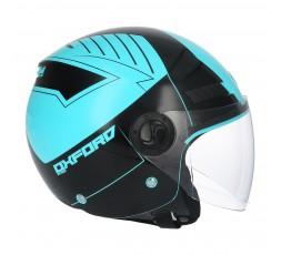 SHIRO SH-62 Oxford Open-face Helmet blue 4