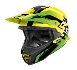 Casco moto integral uso Off road Motocross Aventura Enduro VARIAL de SHARK amarillo vista de lado