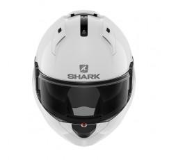 Casco moto modular EVO-ES de SHARK blanco integral vista de frente