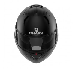 Casco moto modular EVO-ES de SHARK negro mate integral vista de frente