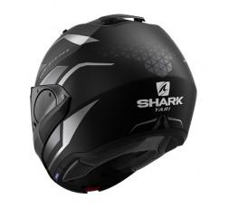 Casco moto modular EVO ES YARI de SHARK color negro integral vista detrás