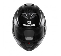 Casco moto modular EVO ES YARI de SHARK color negro integral vista de frente