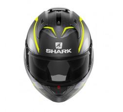 Casco moto modular EVO ES YARI de SHARK color amarillo integral vista de frente