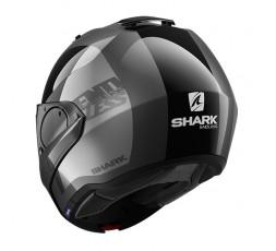 Casco moto modular EVO ES modelo ENDLESS de SHARK integral negro vista detrás