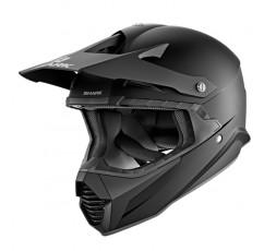 Casco integral para uso Off Road Motocross, Aventura, Enduro VARIAL de SHARK negro mate vista de lado