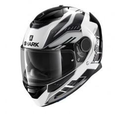 Casco moto integral SPARTAN modelo ANTHEON de SHARK color blanco vista de lado