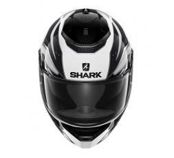 Casco moto integral SPARTAN modelo ANTHEON de SHARK color blanco vista de frente