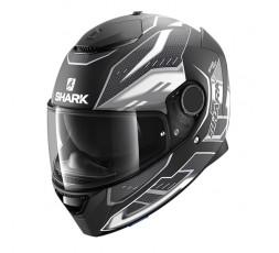 Casco moto integral SPARTAN modelo ANTHEON de SHARK color gris vista de lado