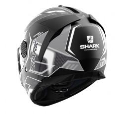 Casco moto integral SPARTAN modelo ANTHEON de SHARK color gris vista detrás