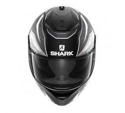 Casco moto integral SPARTAN modelo ANTHEON de SHARK color gris vista de frente