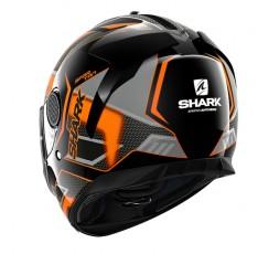 Casco moto integral SPARTAN modelo ANTHEON de SHARK color naranja vista detrás
